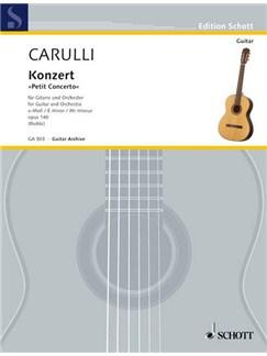 Ferdinando Carulli: Konzert E-Moll Op. 140 Books | Guitar, Piano