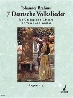 Johannes Brahms: 7 Deutsche Volkslieder Aus WoO 33 Books | High Voice, Guitar