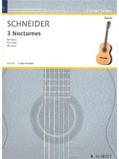 Enjott Schneider: 3 Nocturnes Books | Guitar