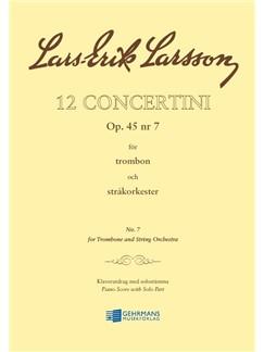 Lars-Erik Larsson: Concertino Op.45 No.7 Trombone Books | Trombone, Piano Accompaniment