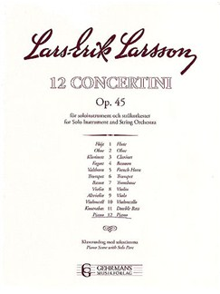 Lars-Erik Larsson: Concertino Op.45 No.12 Piano Books | Two Pianos