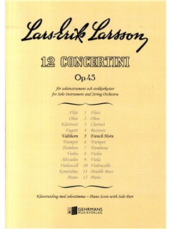 Lars-Erik Larsson: Concertino Op.45 No.5 (Horn/Piano) Books | French Horn, Piano
