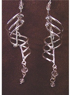Earrings - Music Note Drops (Silver Plated and Gift Boxed)  |