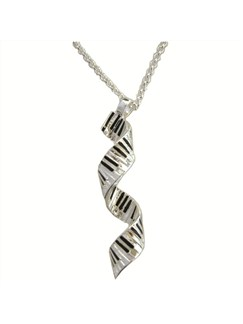 Silver Plated Spiral Keyboard Pendant  |