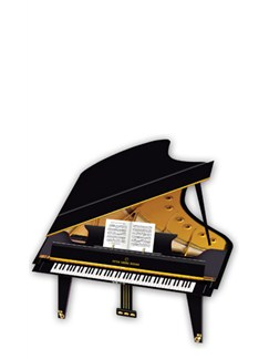 3D Greeting Card - Grand Piano  |