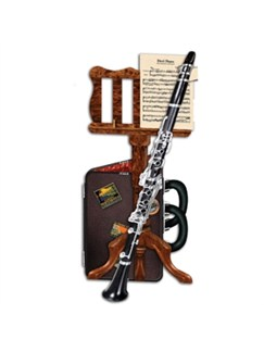 3D Card – Clarinet And Music Stand  | Clarinet