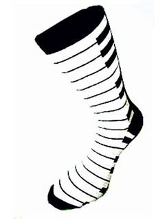 The Music Gifts Company: Piano Keyboard Socks  |