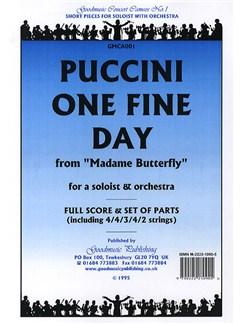 Giacomo Puccini: One Fine Day Books   Voice, Orchestra