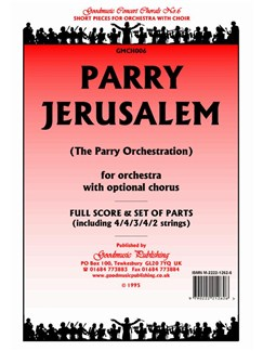 Hubert Parry: Jerusalem - Score/Parts Books | Orchestra