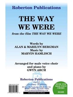 Marvin Hamlisch/Alan Bergman/Marilyn Bergman: The Way We Were - TTBB/Piano Books | TTBB, Piano Accompaniment