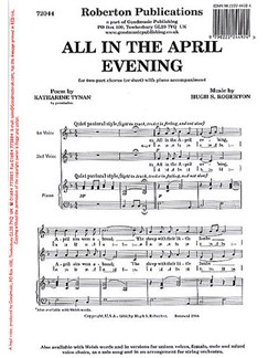 Hugh S. Roberton: All In The April Evening (2-Part) Books | 2-Part Choir, Piano Accompaniment