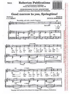 Hugh S. Roberton: Good Morrow to You Springtime/ Softly Fall the Shades of Evening Books | Unison Voice, Piano Accompaniment