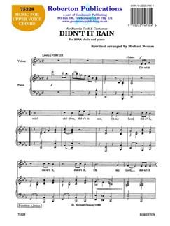Michael Neaum: Didn't It Rain Books | SSAA, Piano Accompaniment