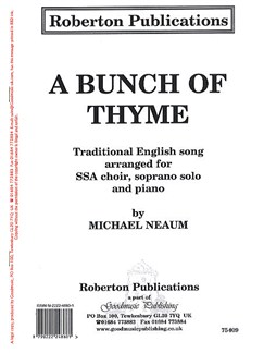 A Bunch Of Thyme Books | Soprano, Soprano, Alto, Piano Accompaniment