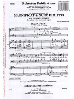 Grayston Ives: Magnificat & Nunc Dimittis - The Edington Service (SATB) Books   SATB and Organ Accompaniment