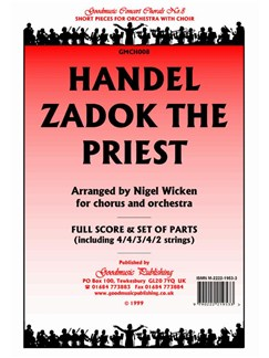 G.F Handel: Zadok The Priest - Score/Parts Books | Orchestra