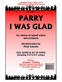 Hubert Parry: I Was Glad - Score/Parts Books | Orchestra