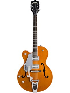 Gretsch: G5420LH Electromatic Hollow Body (Orange) - Left Handed Instruments | Semi-Acoustic Guitar, Left-Handed Guitar