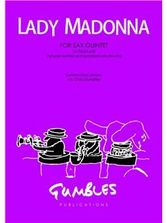John Lennon/Paul McCartney: Lady Madonna - Saxophone Quintet SATTB/SAATB Books   Saxophone (Quintet)
