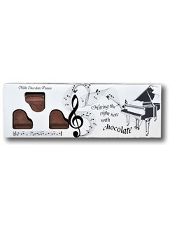 Belgian Milk Chocolate Box Of Pianos - 8  |
