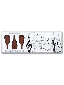 Belgian Milk Chocolate Box Of Violins - 8  |