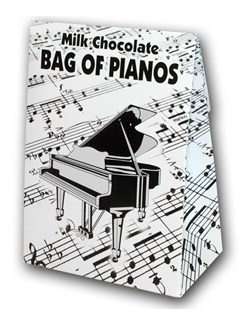Belgian Milk Chocolate Bag Of Pianos - 100g  |
