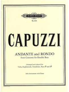 Antonio Capuzzi: Andante And Rondo (Solo Bass Instrument/Piano) Books | Tuba, Euphonium, Trombone, Piano Accompaniment