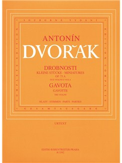 Antonin Dvorak: Miniatures, Op.75a & Gavotte (B.164). Books | Violin(Duet), Viola