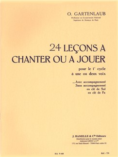 Gartenlaub 24 Lecons A Chanter Ou A Jouer Cycle 1 1 Ou 2 Voixs Choral Livre | Voix