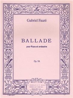 Gabriel Fauré: Ballade Op.19 (Pianos 2) Books |