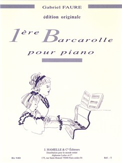 Gabriel Faure: Barcarolle No.1 In A Minor Op.26 Books | Piano
