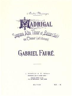 Gabriel Fauré: Madrigal Op.35 (Choral-Mixed accompanied) Books | Choral