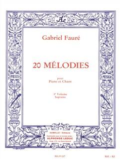 20 mélodies pour piano et chant volume 3 soprano Livre | Piano, Voix, Piano et Chant
