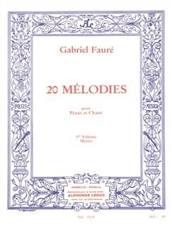 20 mélodies pour Piano et chant vol 1 mezzo Livre | Piano, Voix, Piano et Chant