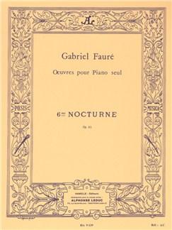 Gabriel Fauré: Nocturne No.6 Op.63 In D Flat Books | Piano