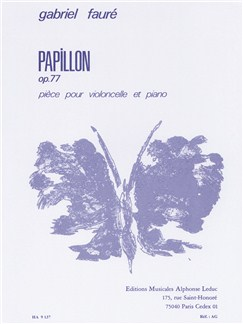 Gabriel Fauré: Papillon Op.77 (Cello/Piano) Books | Cello, Piano Accompaniment