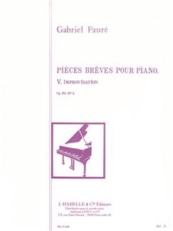 Gabriel Fauré: Improvisation Op.84, No.5 (Piano solo) Books | Piano