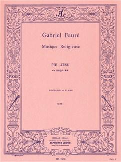 Gabriel Fauré: Pie Jesu Du Requiem (Soprano Et Piano) Buch | Gesang, Klavierbegleitung