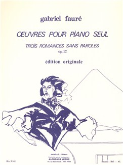 Romances Sans Paroles Op 17 Comp Livre | Piano