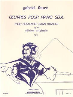 Gabriel Fauré: 3 Romances sans Paroles Op.17, No.3 in A flat major (Piano solo) Books | Piano