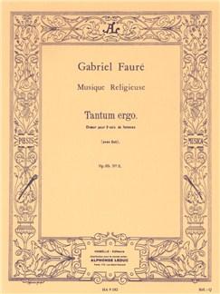 Gabriel Fauré: Tantum Ergo Pour Chœur De Femmes Libro | Coral