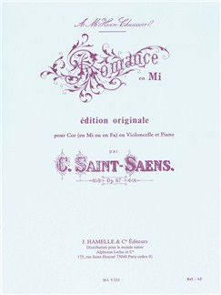 Camille Saint-Saëns: Romance Op.67 In E (Horn or Cello/Piano) Books | French Horn, Cello
