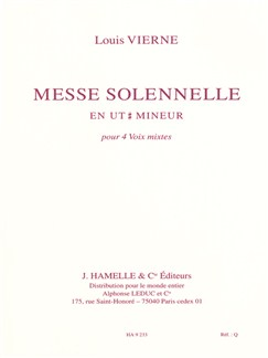Louis Vierne: Messe Solennelle (Chorus Part) Books | SATB
