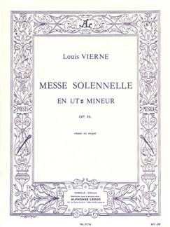 Louis Vierne - Messe solennelle en ut dièse mineur pour chant et deux orgues Books | Organ, Voice, Score