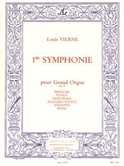 Louis Vierne: Symphonie Pour Grand Orgue No.1 Op.14 Books | Organ