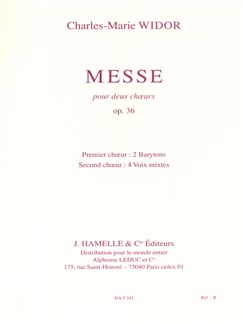 Charles Marie Widor: Messe Op.36 (Chorus Part) Books | Baritone Voice, SATB