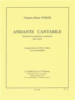 Charles Marie Widor: Andante Cantabile (Organ Symphony No.4) (Flute/Organ) Books | Flute, Organ Accompaniment