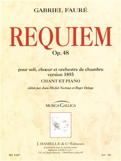 Gabriel Fauré - Requiem pour soli, chœur et orchestre de chambre op. 48 (version de 1893, chant - piano) Books | Piano & Vocal, Melody Line, Lyrics & Chords, Score