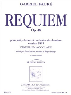 Gabriel Fauré: Requiem Op.48 (1893 Version - Hamelle) (Choir Part) Books | SATB