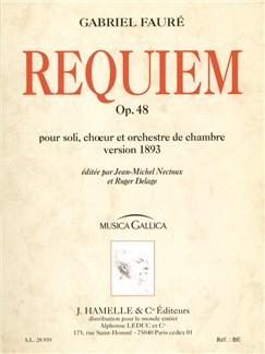 Gabriel Fauré: Requiem Op.48 (Musica Gallica) Books | Baritone, SATB, Chamber Group